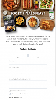 Ocean Chef – Win The Ultimate Footy Finals Feast For Grand Final Weekend (prize valued at $250)