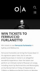 Opera Australia – Win Double Passes To See Ferruccio Furlanetto