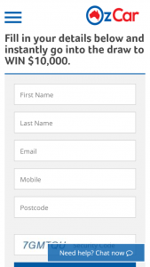 OzCar $10 – Win $10,000 Cheque