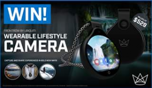 PC Case Gear – Win A Frontrow Wearable Camera Drawn @530pm (prize valued at $529)