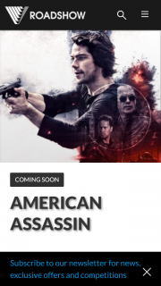 Roadshow – EB Games – Win A Private Screening Of American Assassin And 2 Hour Gaming Session For 10 People  (prize valued at $5,150)