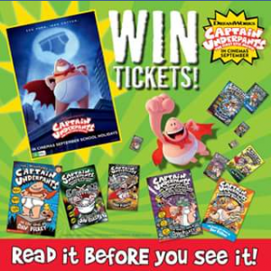 Scholastic Australia – Win a Double Pass to See Captain Underpants