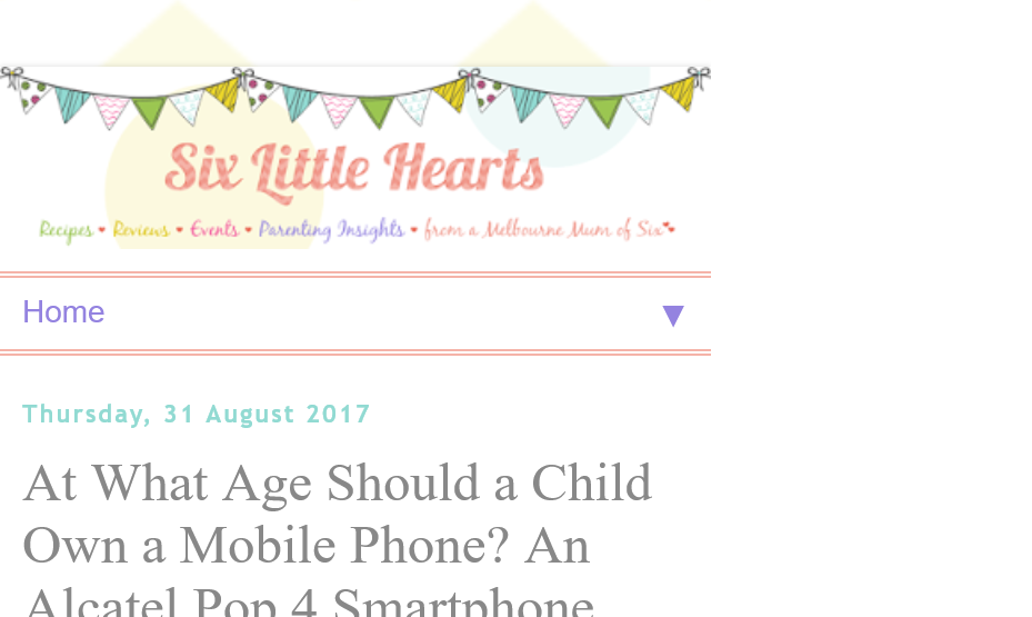 six little hearts-Alcatel – Win A Fantastic Alcatel Pop 4 Smartphone (prize valued at  $129)