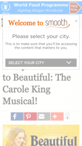 Smooth fm – Win Your Tickets To Beautiful The Carole King Musical  (prize valued at  $2,200)