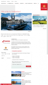 Switzerland Tourism – Win a Trip to Switzerland