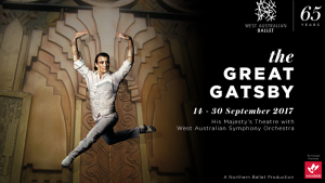 Tix to Great Gatsby Ballet – Win A Double Pass To West Australian Ballet's The Great Gatsby (prize valued at $1,400.)