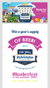 Phoenix Beers – Win A Years Supply Of Beer With Weihenstephan (prize valued at  $1,800)