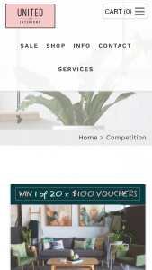 United Interiors – Win 1 of 20 $100 Vouchers (prize valued at $2,000)