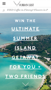 Urban List – Win A Trip For 3 People To Hamilton Island  (prize valued at $6,500)