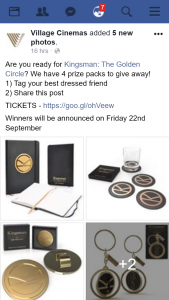 Village Cinemas – Win Kingsman The Golden Circle Pack