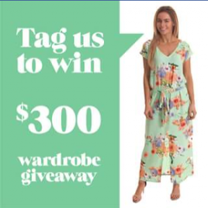 $300 Wardrobe – Win 1 Of 3 Freez Wardrobes (prize valued at  $300)