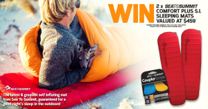 Wild Earth – Win 2 Of Sea To Summits Brand New Range Of Sleeping Mats (prize valued at $459)