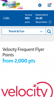 Flybuys – Flybuys Velocity Win a Family Holiday to Hong Kong