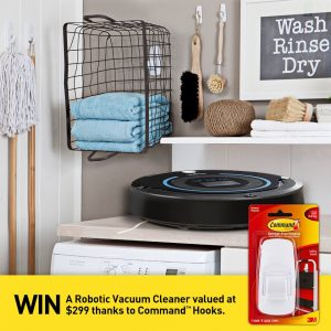 3M Australia – Command – Win a Robotic Vacuum Cleaner valued at $299
