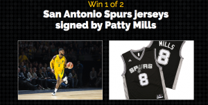 BigW – Win 1 of 2 San Antonio Spurs jerseys signed by Patty Mills valued at $140
