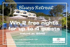 Blueys Retreat – Win a 2-night stay for 4 people valued at $540