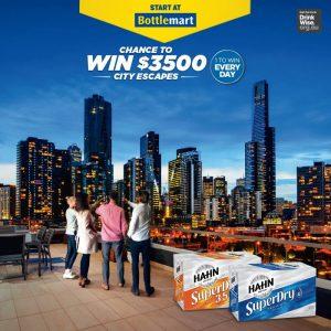 Bottlemart – Hahn SupreDry – Win 1 of 28 Webjet gift vouchers valued at $3,500 each