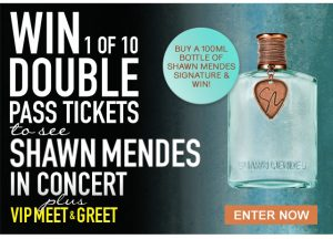 Chemist Warehouse – Shawn Mendes Meet and Greet – Win 1 of 10 double passes to Shawn Mendes Illuminate World Tour Concert (2 per state)