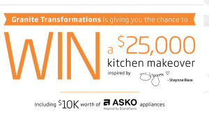 Granite Transformations – Kitchen Makeover – Win a Kitchen Makeover valued up to $25,000