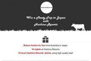 Hoshino Resorts – Win a meaty trip for 2 to Japan with Hoshino Resorts