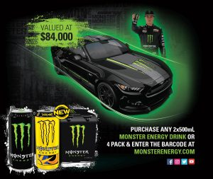 IGA – Win a Cam Water's Monster Energy Mustang 2017 OR 1 of 400 Foodworks/IGA/Foodland vouchers valued at $100 each