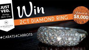 Just Veg. – #Carats4Carrots – Win a 2-carat diamond ring valued at $8,000