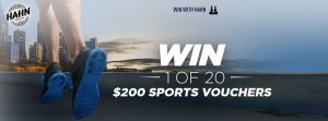 Lion – Hahn – Win 1 of 20 Sports Vouchers redeemable at any Rebel Sports outlet valued at $200 each