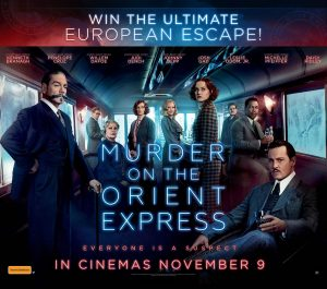 Network Ten – Murder on the Orient Express – Win a travel prize package including flights to Paris valued at $10,660