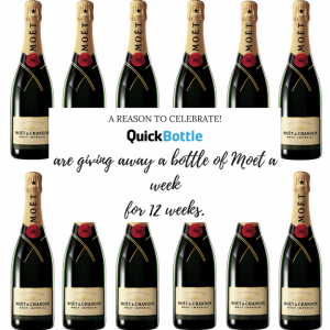 QuickBottle – Win 1 of 12 bottles of Moet and Chandon valued at over $74 each