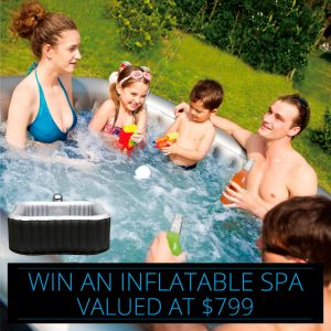 SpaChoice & M Spa Direct – Win One M Spa Direct Alpine Inflatable Square Spa valued at $799