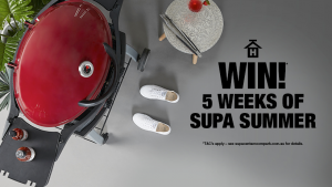 Supa Centa  Moore Park –  5 Weeks of Supa Summer – Win 1 of 4 prize packages valued at up to $4,355