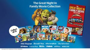 "Toasted TV – Win 1 of 5 Newscorp's ""The Great Night in Family Movie Collection"" bundles"