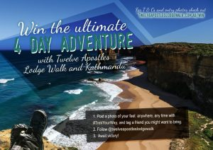 Twelve Apostles Lodge Walk – Win the Ultimate 4-day Adventure for 2 OR 1 of 6 Kathmandu prize packs