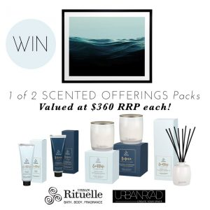 Urban Rituelle – Win 1 of 2 Scented Offerings packs valued at $360 each
