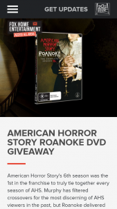 Access All Areas Fox Movies – Win American Story Roanoke DVDs