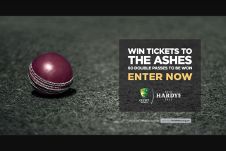 Accolade Wines & Hardy's – Win Ashes Tickets Promotion Terms and Conditions (prize valued at $140)