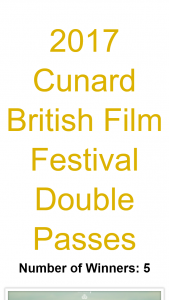 Agentmysterycase – Win One of Five Double Passes to Cunard British Film Festival
