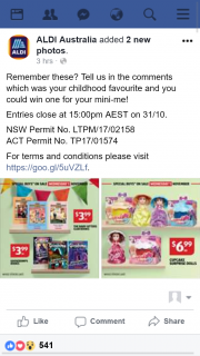 ALDI Australia – Win One for Your Mini-Me (prize valued at $39.9)