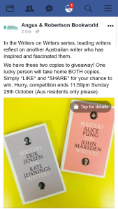 Angus & Robertson Bookworld – Win Two Copies of Writers on Writers Series