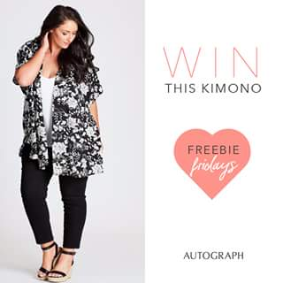 Autograph fashion – Win this New Printed Black & White Kimono