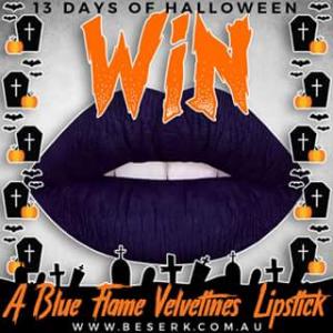 Beserk – Win a Blue Flame Velvetines Lipstick From Wwwbeserk &#128420