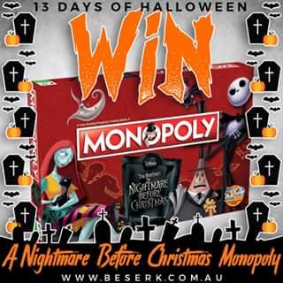 Beserk – Win a Nightmare Before Christmas Monopoly From Wwwbeserk &#128420
