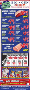 Big Gun Wholesale Meats – Win 1 of 2 $100 Vouchers (prize valued at $200)