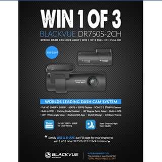 BlackVue Australia – Win One of Three Blackvue Dash Cameras (prize valued at $599)