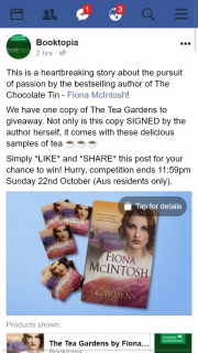 Booktopia – Win a Signed Copy of The Tea Gardens