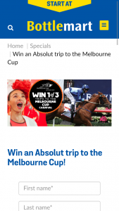 "Bottlemart-SipNSave/Absolut – Win a Trip to Melbourne Cup"" (prize valued at $1,540)"