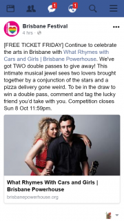 Brisbane festival – Win a Double Pass