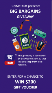 BuyMeStuff – Win a $200 Buymestuff Voucher (prize valued at $200)