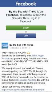 By the Sea with Three – Win a Baby Jogger City Tour Stroller
