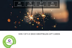 CareerOne – Win 1 of 5 $500 Westfield Vouchers From Careerone (prize valued at $2,500)
